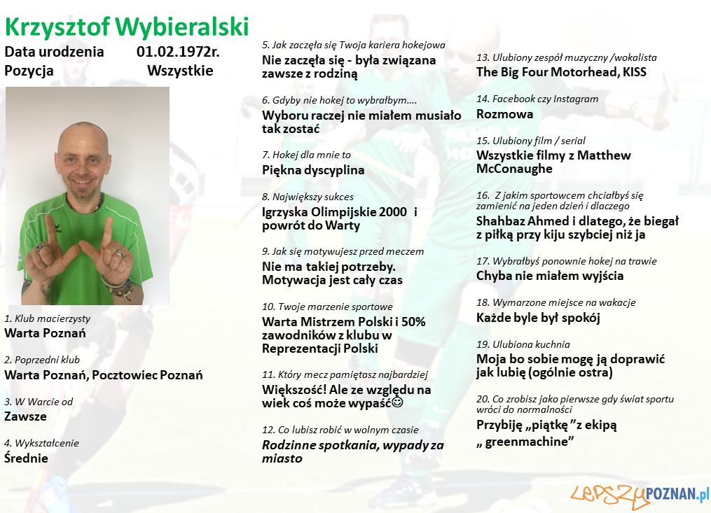 Warta Poznań - Krzysztof Wybieralski Foto: Warta Poznań / materiały prasowe