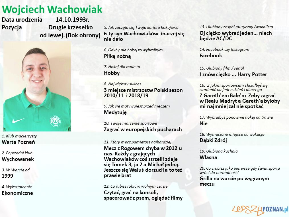 Warta Poznań - Wojciech Wachowiak Foto: Warta Poznań / materiały prasowe