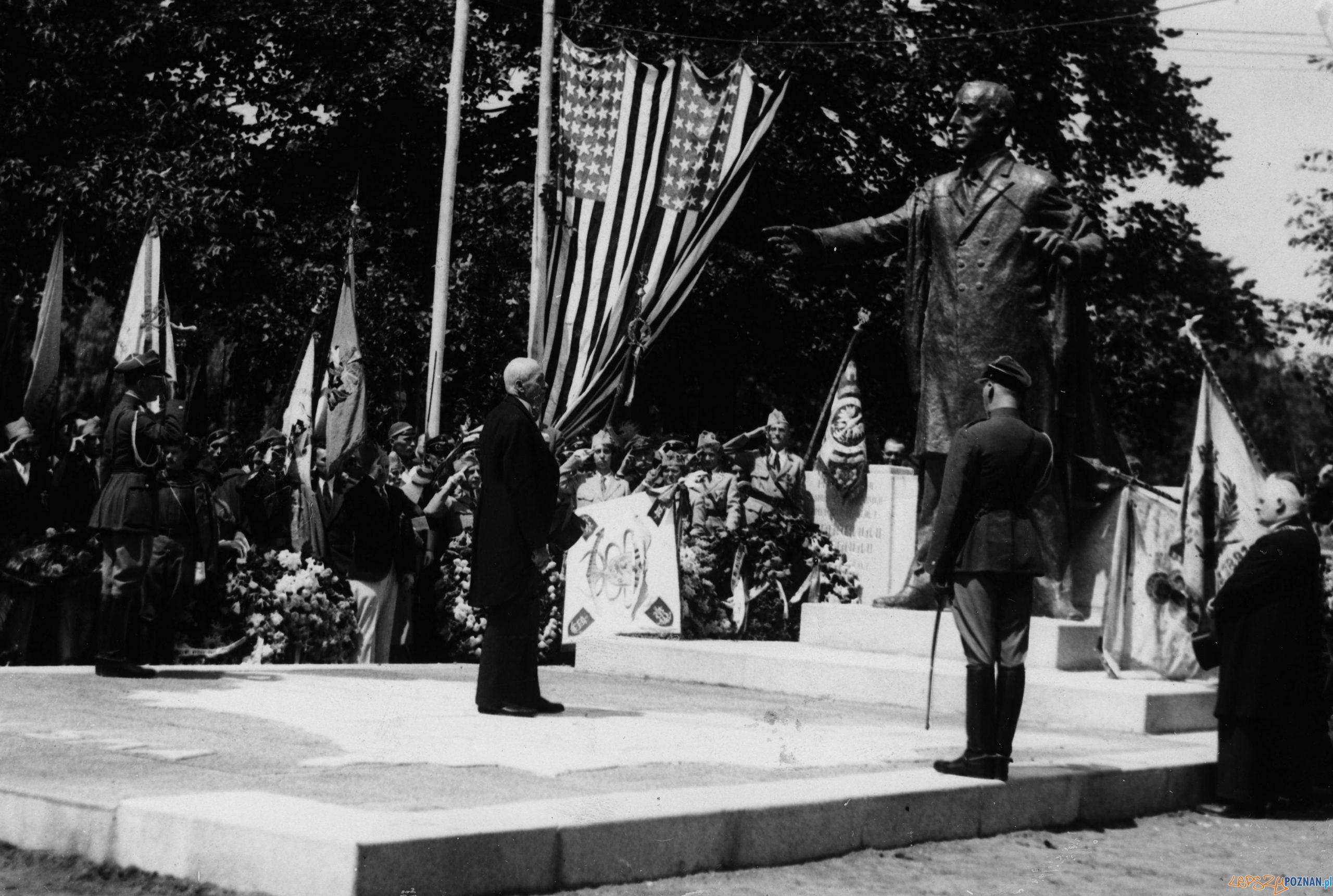 Pomnik Wilsona odsloniecie 1931 [IKC NAC] (4) Foto: IKC NAC