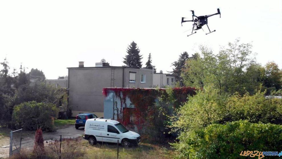 Dron lata nad miastem  Foto: materiały prasowe / UMP