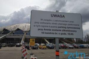 Parking tymczasowy przy Arenie  Foto: materiały prasowe / ZDM