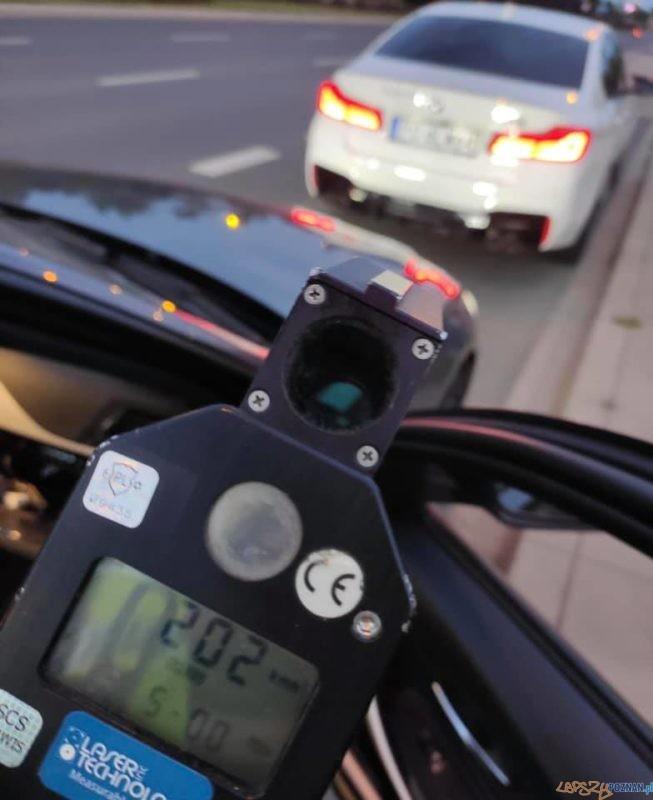 202 km/h na ulicy Krzywoustego Foto: FM/ Komenda Miejska Policji
