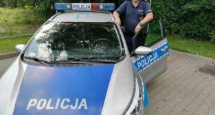 sierż. sztab. Dariusz Kędziora z Komisariatu Policji w Czerwonaku  Foto: materiały prasowe / KWP