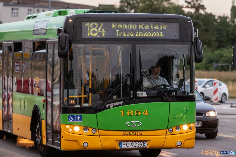 Autobus linia 184  Foto: lepszyPOZNAN.PL/Piotr Rychter